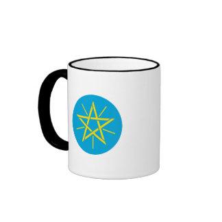 Ethiopia Coat of Arms Ringer Coffee Mug