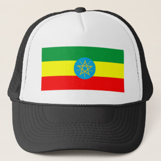 ethiopia country flag long symbol trucker hat
