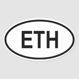 "Ethiopia ""ETH"" Oval Sticker"