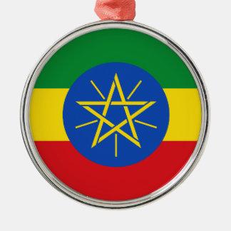 Ethiopia – Ethiopian Flag Metal Ornament
