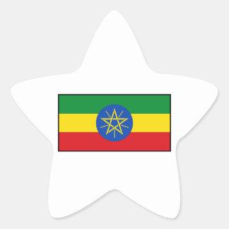 Ethiopia – Ethiopian Flag Star Sticker