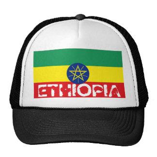 Ethiopia ethiopian flag trucker mesh souvenir hat