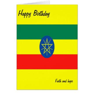 Ethiopia faith and hope card
