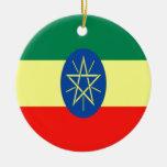 Ethiopia faith and hope Double-Sided ceramic round christmas ornament