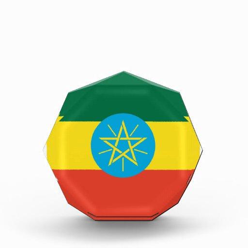 Ethiopia Flag Acrylic Octagon Award