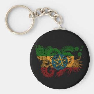 Ethiopia Flag Basic Round Button Keychain