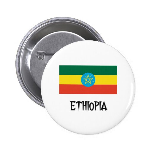 Ethiopia Flag Button