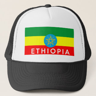 ethiopia flag country text name trucker hat