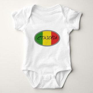 Ethiopia flag design! baby bodysuit