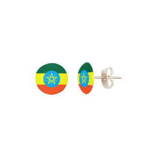 Ethiopia Flag Earrings