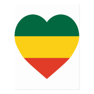 Ethiopia Flag Heart Post Cards