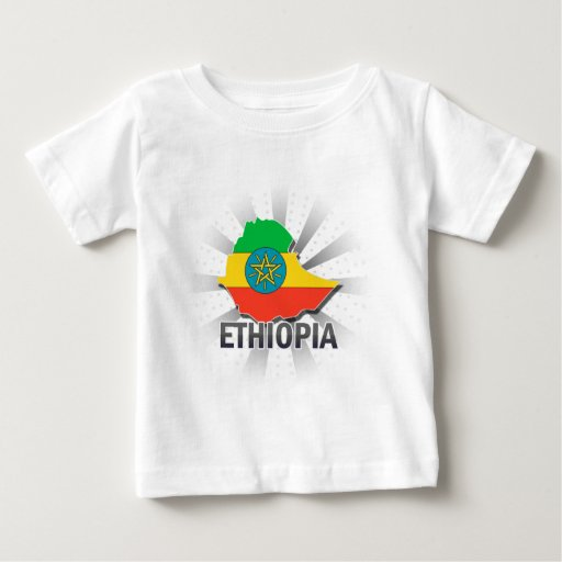 Ethiopia Flag Map 2.0 Baby T-Shirt