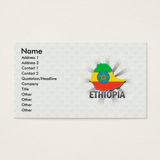 Ethiopia Flag Map 2.0 Business Card