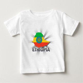 Ethiopia Flag Map 2.0 Tshirts