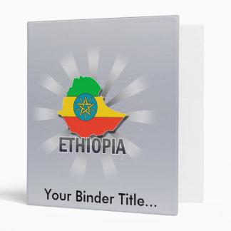 Ethiopia Flag Map 2.0 Vinyl Binders
