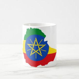 Ethiopia Flag Map ET Classic White Coffee Mug