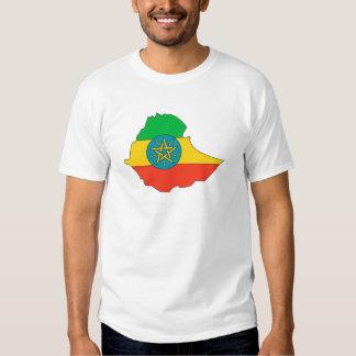 Ethiopia Flag Map full size T Shirts