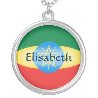 Ethiopia Flag + Name Necklace