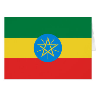 Ethiopia Flag Notecard Cards