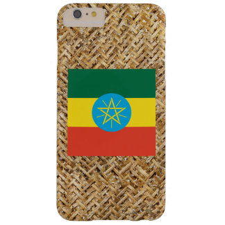 Ethiopia Flag on Textile themed Barely There iPhone 6 Plus Case