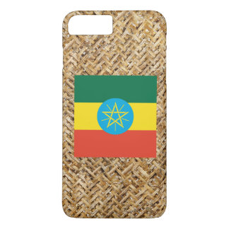 Ethiopia Flag on Textile themed iPhone 7 Plus Case