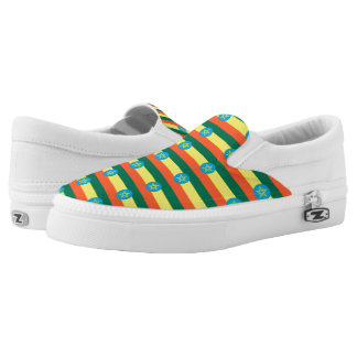 Ethiopia Flag -.png Slip-On Sneakers