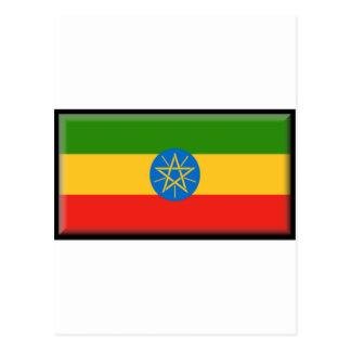 Ethiopia Flag Postcard