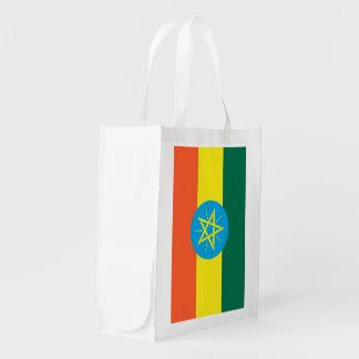 Ethiopia Flag Reusable Grocery Bags