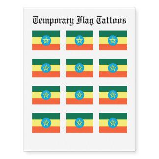 Ethiopia Flag Temporary Tattoos