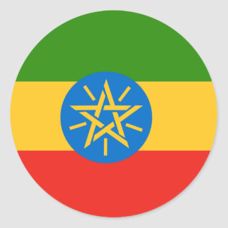 Ethiopia High quality Flag Classic Round Sticker