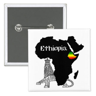 ETHIOPIA / LION of JUDAH Pinback Button