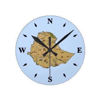 Ethiopia Map Clock