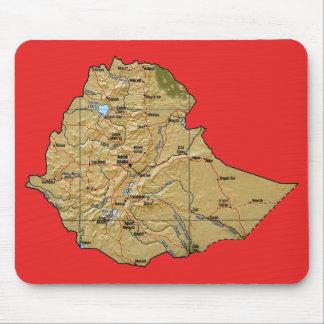 Ethiopia Map Mousepad