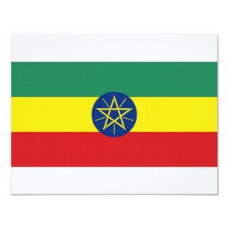 Ethiopia National Flag Card