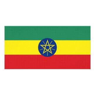 Ethiopia National Flag Customized Photo Card