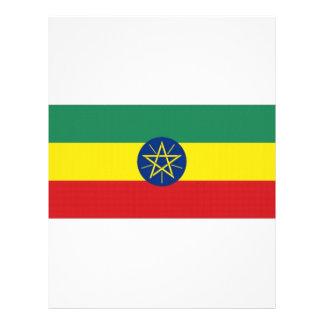 Ethiopia National Flag Personalized Letterhead