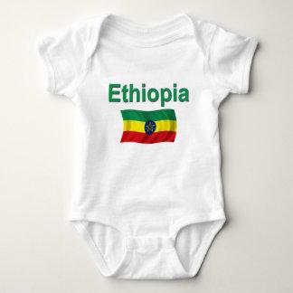 Ethiopia National Flag (w/inscription) Baby Bodysuit