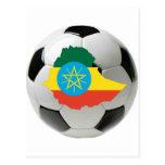 Ethiopia national team postcard