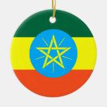 Ethiopia Double-Sided Ceramic Round Christmas Ornament