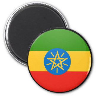 Ethiopia quality Flag Circle 2 Inch Round Magnet
