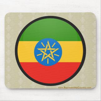 Ethiopia quality Flag Circle Mouse Pad