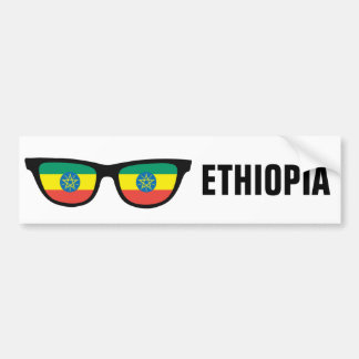Ethiopia Shades custom text & color bumpersticker Bumper Sticker
