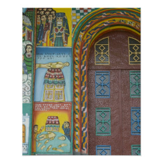 Ethiopia:  Tigray Region, Axum, Christ Church, Poster