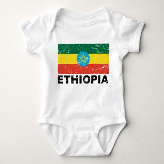 Ethiopia Vintage Flag Baby Bodysuit