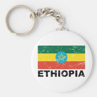 Ethiopia Vintage Flag Keychain