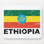 Ethiopia Vintage Flag Mousepads