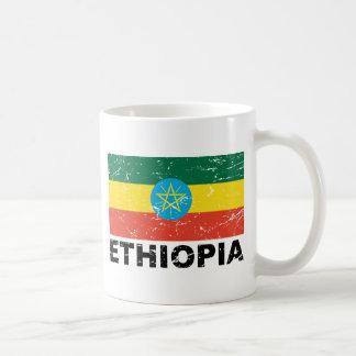 Ethiopia Vintage Flag Mugs