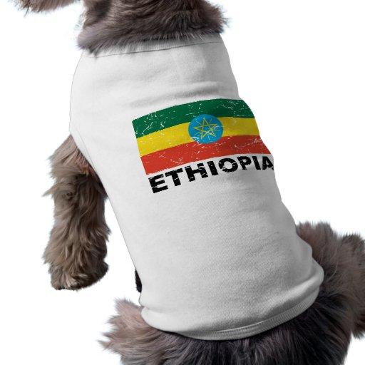 Ethiopia Vintage Flag Pet Tee