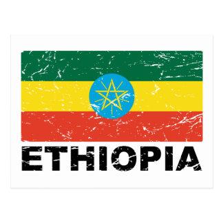 Ethiopia Vintage Flag Postcard