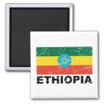 Ethiopia Vintage Flag Refrigerator Magnets